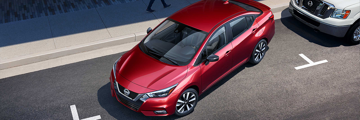2020 Nissan Versa High Side Red Exterior Picture